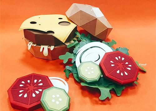 紙藝漢堡-封面