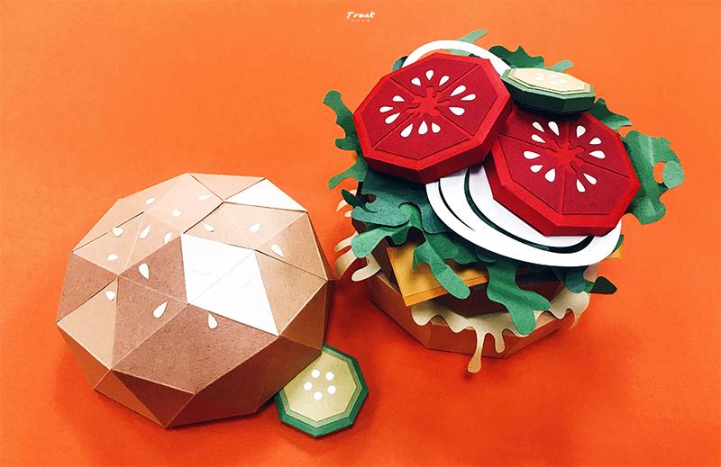 紙藝漢堡-圖1