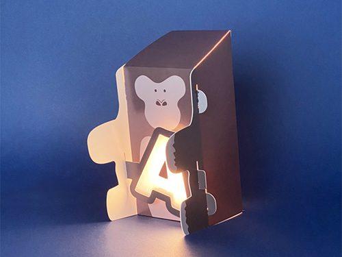 動物造型字母燈-A